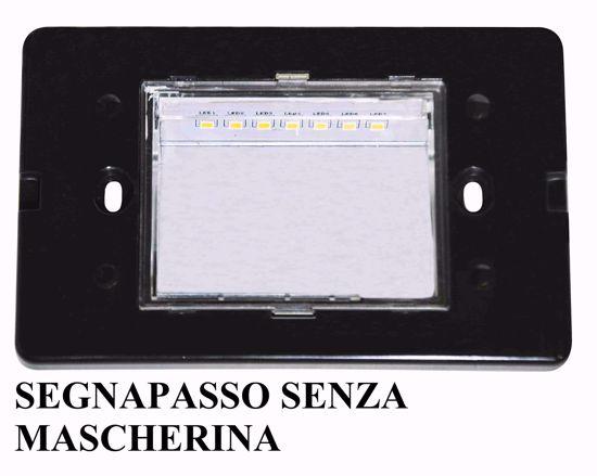 SEGNAPASSO PER ESTERNI LED 2W 4000K IP65 INCASSO PARETE CASSETTA 503 RETTANGOLARE