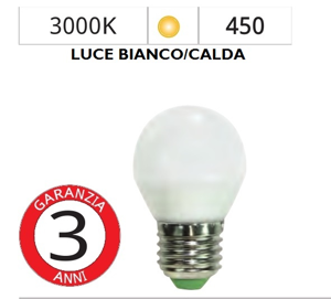 LIFE ELECTRONICS LAMPADINA LED E27 6W 3000K MINISFERA BIANCA