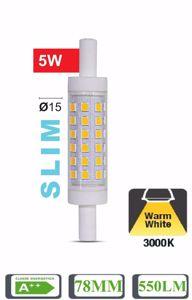 LAMPADINA LIFE R7S LED 5W 3000K SLIM 78MM 550LM A++ TUBOLARE OTTICA 360