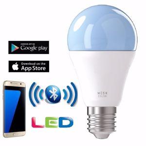 LAMPADINA E27 LED RGB 9W GOCCIA CONTROLLO TRAMITE APP BLUETOOTH