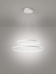 AFFRALUX ALURING LAMPADARI MODERNI LED 80CM 58W 3200K DOPPIO CERCHIO