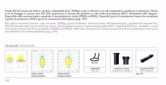 FARETTO SEGNAPASSO LED 7W 3000K DA INCASSO PAVIMENTO PER ESTERNO IP67 TONDO