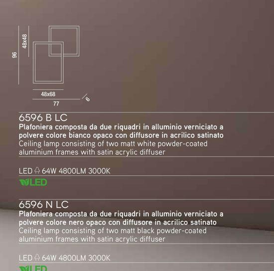 PLAFONIERA LED 64W 3000K NERO MODERNO PER SOGGIORNO PROMOZIONE ULTIMO PEZZO