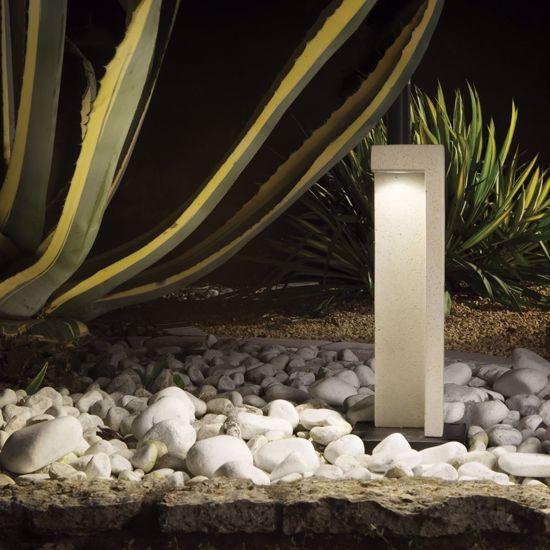 LAMPIONCINO IN RESINA DA GIARDINO PER ESTERNO EFFETTO GRANITO IP55 LED 7W 4000K