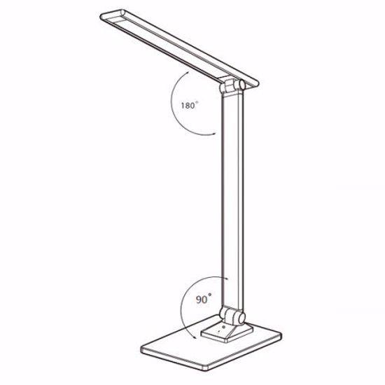 LAMPADA DA SCRIVANIA MODERNA BIANCA LED RGB DIMMERABILE TOUCH