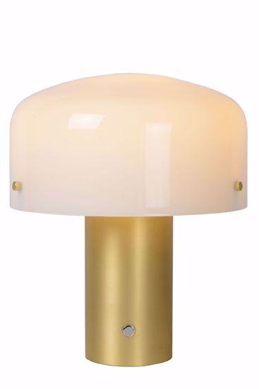 LAMPADA DA TAVOLO DESIGN PROMOZIONE MODERNA ORO VETRO BIANCO TOUCH DIMMER