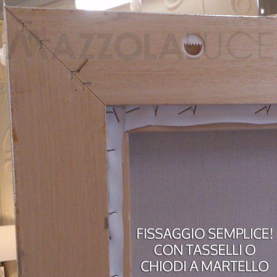 CAPEZZALE ECOPELLE 112X62 DECORO PITTORICO CORNICE ARGENTO SACRA FAMIGLIA CLASSICO