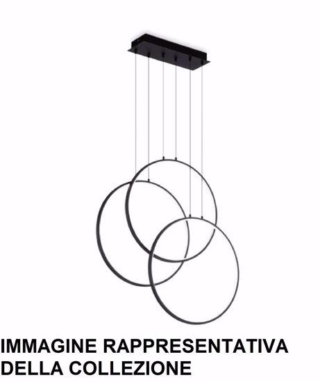 LAMPADARIO TRE CERCHI BIANCHI DESIGN PER SOGGIORNO MODERNO LED 3000K