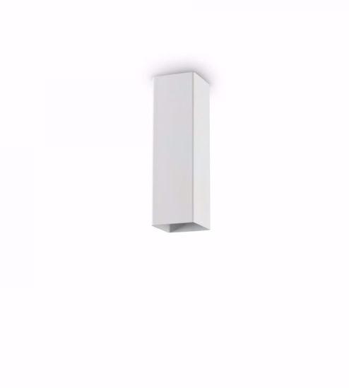 FARETTO SQUADRATO DA SOFFITTO METALLO BIANCO GU10 LED 5W 3000K H20CM