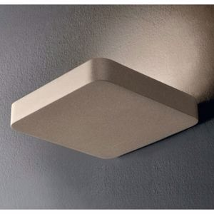 APPLIQUE LED 12W 3000K MENSOLA METALLO TORTORA DESIGN MODERNA