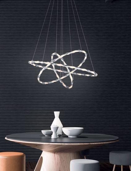 LAMPADARIO DESIGN MODERNO PROMOZIONE PER SOGGIORNO LED 54W 3000K DIMMERABILE