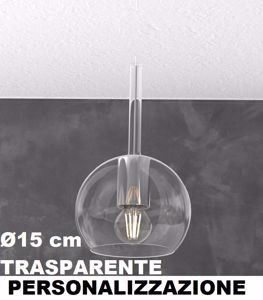 VETRO 1155 PICCOLO 15CM TRASPARENTE FUTURE TOP LIGHT PERSONALIZZAZIONE