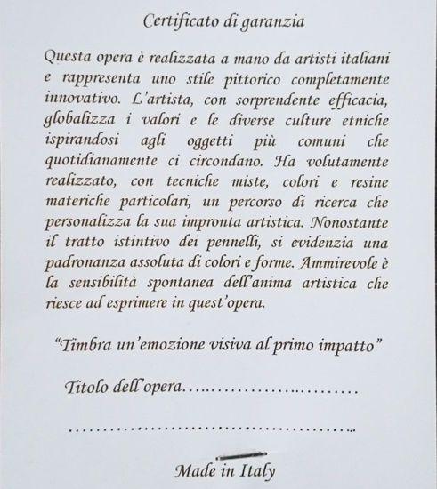 QUADRETTO 35X35 MODERNO CALLA IN FIORE DECORO ORO ARTIGIANALE