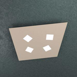 TOPLIGHT NOTE PLAFONIERA LED 4 LUCI SABBIA DESIGN MODERNO