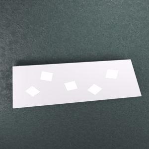 TOP LIGHT NOTE PLAFONIERA LED BIANCA 88CM 5LUCI DESIGN MODERNA