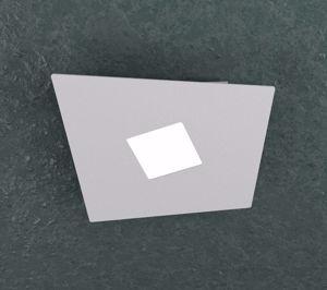 TOP LIGHT NOTE PLAFONIERA LED MODERNA 1 LUCE GRIGIO DESIGN