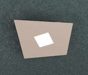 TOP LIGHT NOTE PLAFONIERA LED 1 LAMPADA MODERNA COLORE SABBIA