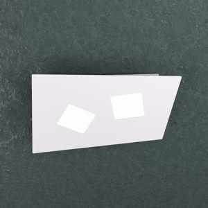 PLAFONIERA 2 LUCI LED BIANCA DESIGN MODERNA TOPLIGHT NOTE