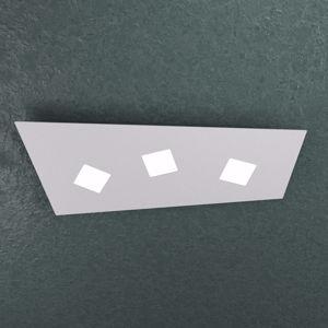 TOP LIGHT NOTE PLAFONIERA LED 3 LUCI GRIGIO DESIGN MODERNO FUORI SQUADRA