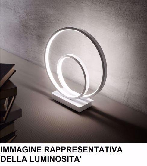 ABATJOUR LAMPADA DA COMODINO DESIGN MODERNA LUMINOSA ORO LED 23W 3000K 2000LM