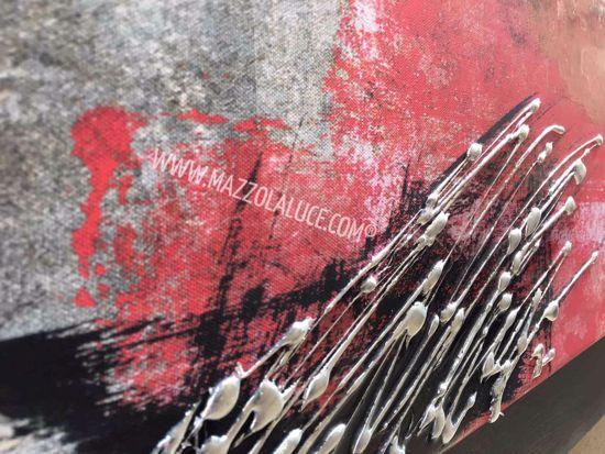 QUADRO ASTRATTO MODERNO DECORATO A RILIEVO  MULTICOLORE 155X65