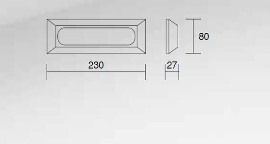 SEGNAPASSO DA PARETE PER ESTERNI LED 4W 4000K IP65 DOPPIA PLACCA BIANCO E ANTRACITE