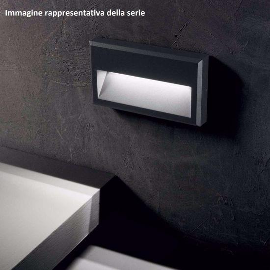 SEGNAPASSO LED 3000K PER ESTERNO GIDIO ANTRACITE SQUADRATO IP65 IMPERMEBILE
