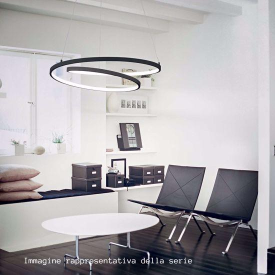 LAMPADARIO MODERNO DESIGN SPIRALE BIANCO LED 3000K OZ IDEAL LUX