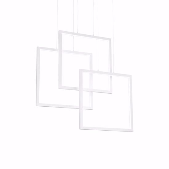 IDEAL LUX FRAME LAMPADARIO DESIGN MODERNO GEOMETRICO BIANCO LED 3000K