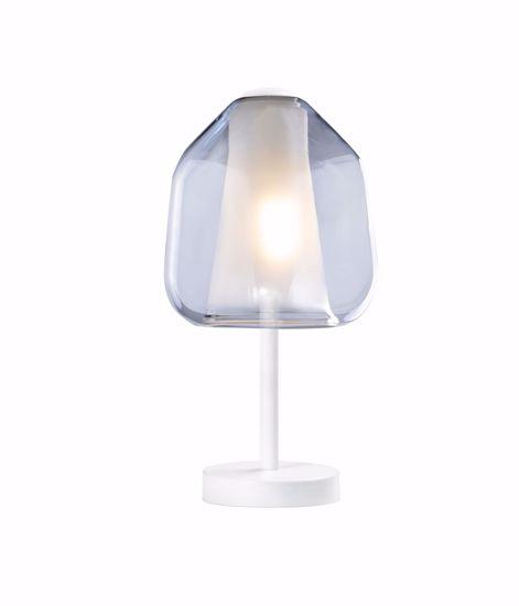 LAMPADA DA COMODINO DOUBLE SKIN TOPLIGHT PER CAMERA DA LETTO MODERNA BIANCO BLU