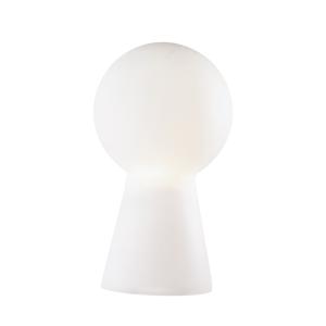 ABATJOUR LAMPADA DA TAVOLO H39 IN VETRO BIANCO DESIGN MODERNO BIRILLO