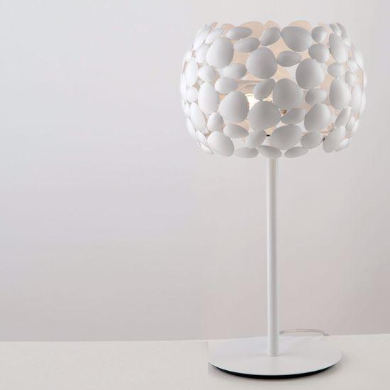 ABATJOUR LAMPADA DA TAVOLO PER SALOTTO H51 CM CROMO LUCIDO