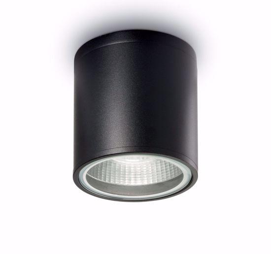 FARETTO DA SOFFITTO GU10 LED DA ESTERNO CILINDRO NERO IP44