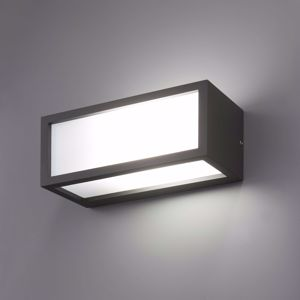 APPLIQUE DA ESTERNO RETTANGOLARE LAMPADINA LED R7S IP54 GRIGIO ANTRACITE MODERNA