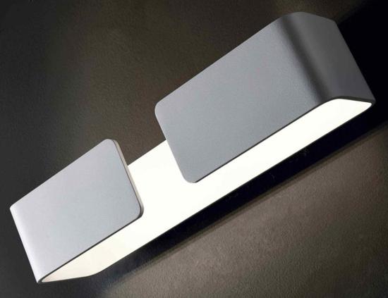 APPLIQUE LED DESIGN MODERNO METALLO BIANCO LUCE 4000K ISYLUCE