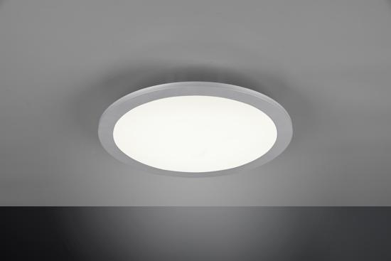 PANNELLO LED MODERNO TONDO 50CM GRIGIO TITANO 22W RGB DIMMERABILE