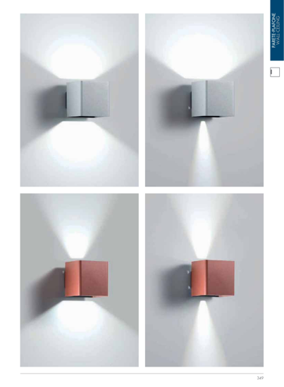 LAMPADA DA PARETE CUBO LED 10W 3000K PER ESTERNO IP54