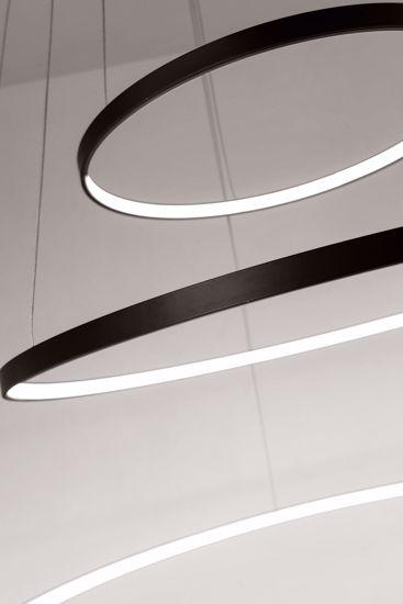 LAMPADARIO A SOSPENSIONE LED 58W 3200K DUE ANELLI NERI AFFRALUX ALURING