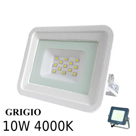 FARO PROIETTORE DA PARETE PER ESTERNO LED IP65 10W 4000K GRIGIO
