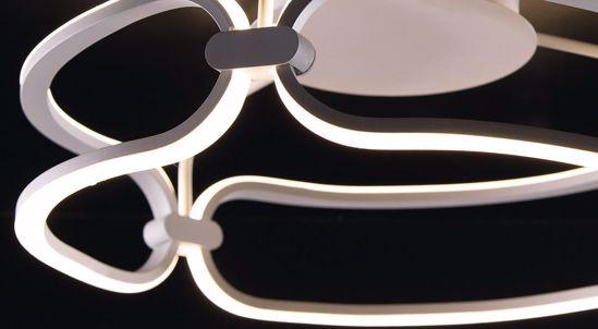 LAMPADARIO PER CAMERA DA LETTO MODERNA BIANCO DESIGN LED 50W 4000K